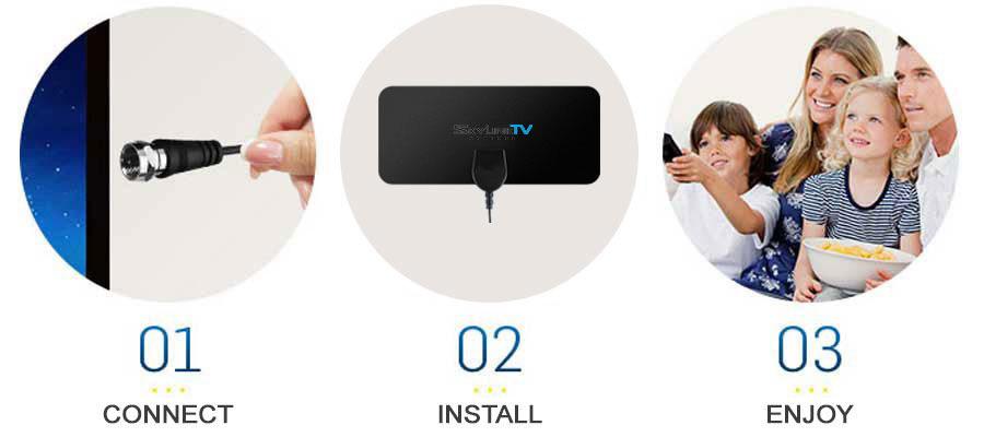 SkylinkTV set up easy